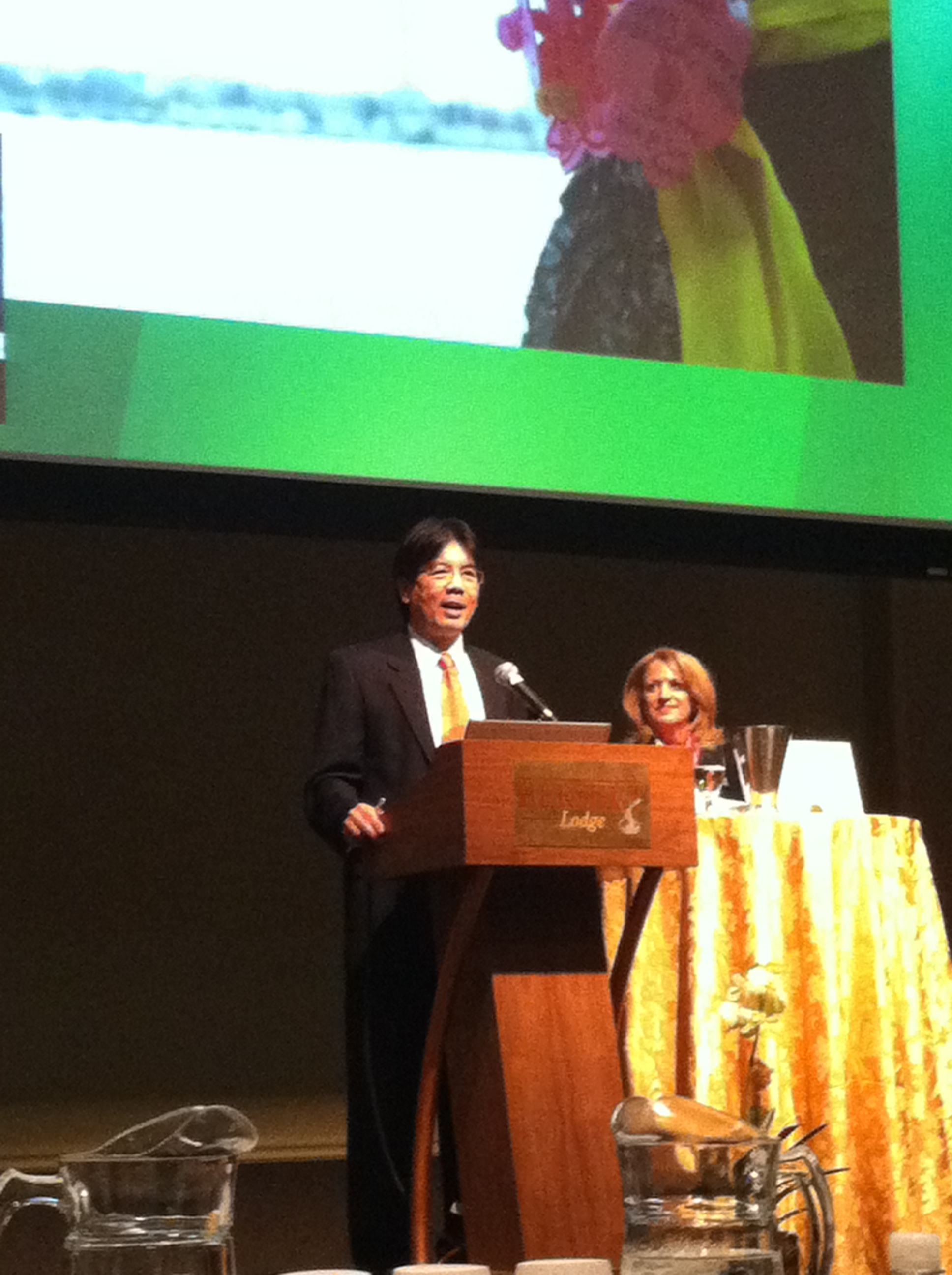 Gil Tran from OMB addresses attendees at NGMA Annual Conference