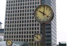 3 Clocks in Downtown City